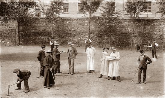 1902 - jeux de tennis et de croquets