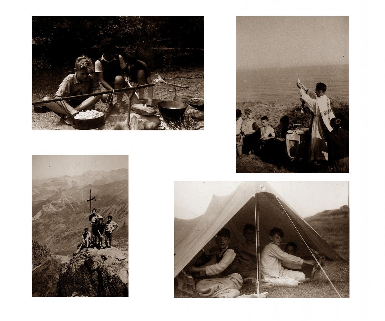 camp vacances au Pays Basque été 1947