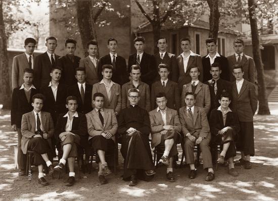 la division supérieure en 1952-53 avec M. l'abbé Jean Jourdan